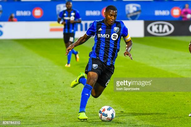 Montreal Impact midfielder Patrice Bernier running on the field with the ball during the Orlando City SC versus the Montreal Impact game on August 5...