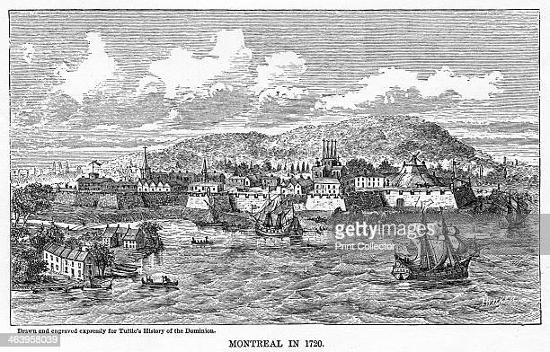 'Montreal in 1729', . Illustration from Popular history of the Dominion of Canada, with art illustrations, from the earliest settlement of the...