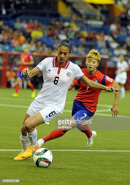 Montreal June 132015 Carol Sanchez of Costa Rica vies with Jeon Gaeul of Korea Republic during their group E match at the 2015 FIFA Women' s World...