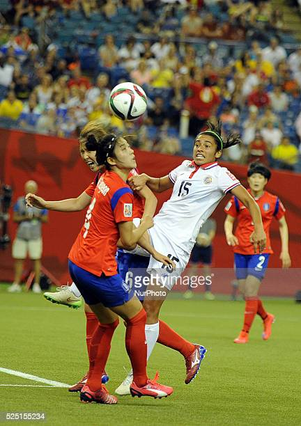 Montreal June 132015 SHIM SEOYEON of Korea Republic vies with CRISTIN GRANADOS of Costa Rica during their group E match at the 2015 FIFA Women' s...