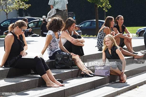 Montreal lunch break in summer