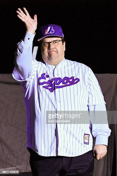 Montreal Mayor Denis Coderre during the Pittsburgh Pirates versus the Toronto Blue Jays spring training game on March 31 at Montreal Olympic Stadium...