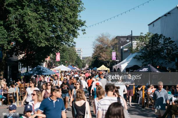 montreal muralfest 2018 - traditional festival stock pictures, royalty-free photos & images