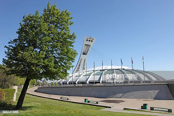 Montreal Olympic Stadium built for 1976 Olympic Games