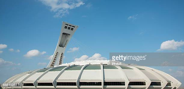 montreal, olympic stadium, canada, quebec - montreal olympic stadium stock photos and pictures