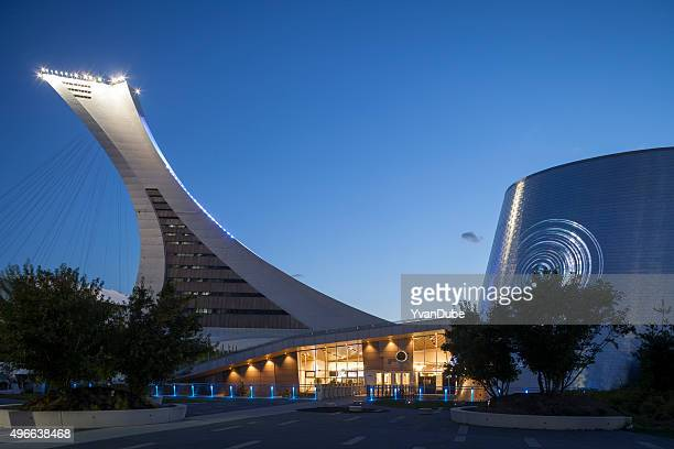 montreal olympic stadium - montreal olympic stadium stock photos and pictures
