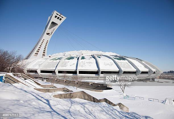 Montreal Olympic Stadium Winter