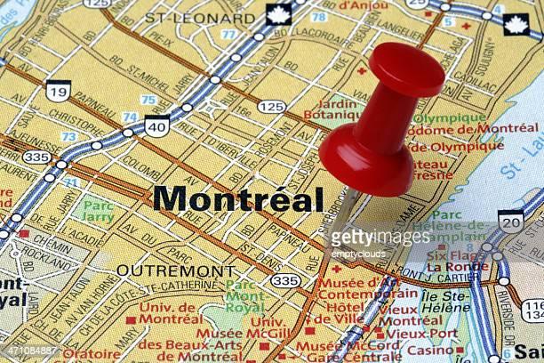 Montréal sur une carte