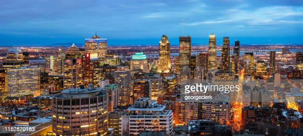montreal skyline panorama - montreal stock pictures, royalty-free photos & images