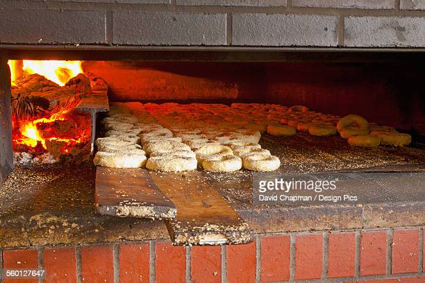 Montreal style bagels in wood fired oven