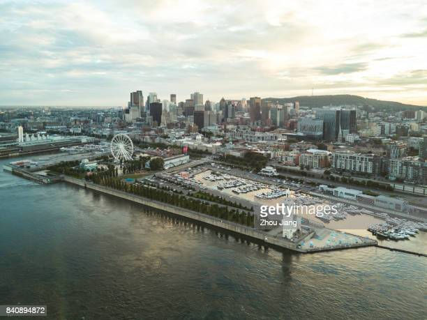montreal sunset - montréal stock pictures, royalty-free photos & images