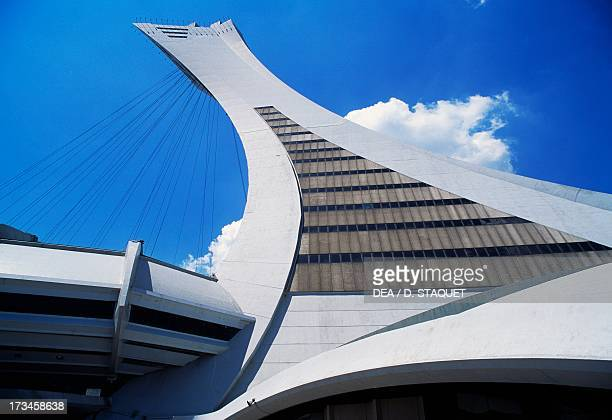 Montreal Tower detail from the Olympic Stadium designed by Roger Taillibert Montreal Quebec Canada