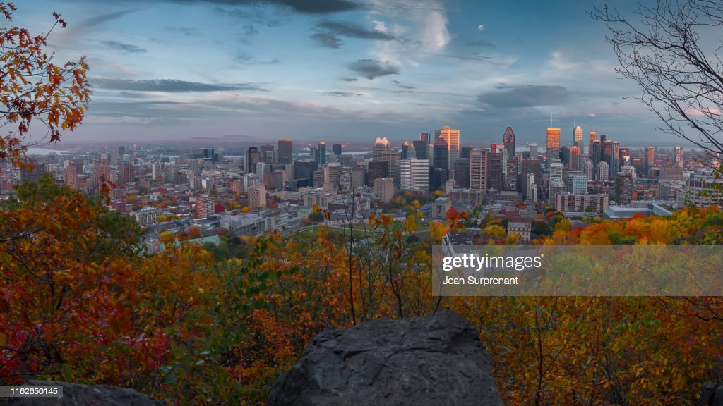 Montreal_skyline_automn_view_16X9_DRI : Stock Photo