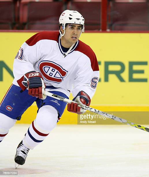 Montreal's Francis Bouillon on Monday, January 23, 2006 at the RBC Center in Raleigh, North Carolina during a regular season NHL game. The Carolina...