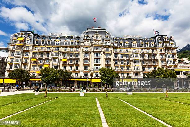montreux hotel, switzerland - vaud canton stock pictures, royalty-free photos & images