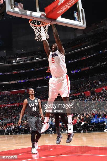 Montrezl Harrell of the LA Clippers drives to the basket against the Brooklyn Nets on March 4 2018 at STAPLES Center in Los Angeles California NOTE...