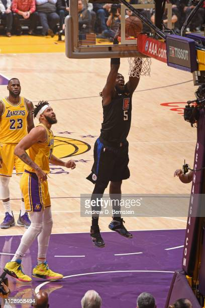99d57c41b Montrezl Harrell of the LA Clippers dunks the ball against the Los Angeles  Lakers on March