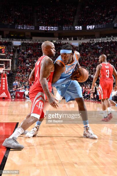 Montrezl Harrell of the LA Clippers handles the ball against the Houston Rockets on March 15 2018 at the Toyota Center in Houston Texas NOTE TO USER...