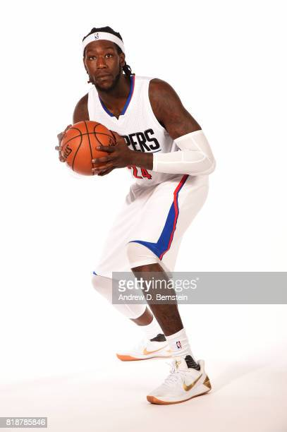 Montrezl Harrell of the LA Clippers poses for a portrait during a shoot in Playa Vista California on July 18 2017 at the Clippers Training Facility...