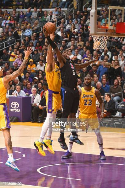 fc326466d Montrezl Harrell of the LA Clippers rebounds the ball against the Los  Angeles Lakers on March