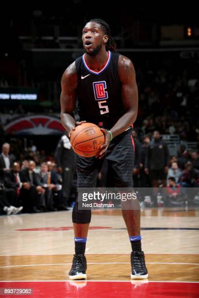 Montrezl Harrell of the LA Clippers shoots a free throw during the game against the LA Clippers on December 15 2017 at Capital One Arena in...