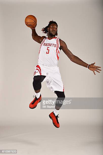 Montrezl Harrell of the Houston Rockets poses for a portrait during the 2016 NBA Media Day at the Toyota Center on September 24 2016 in Houston Texas...