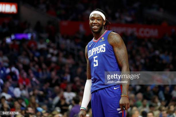 Montrezl Harrell of the Los Angeles Clippers during the game against the Denver Nuggets at Staples Center on April 7 2018 in Los Angeles California...