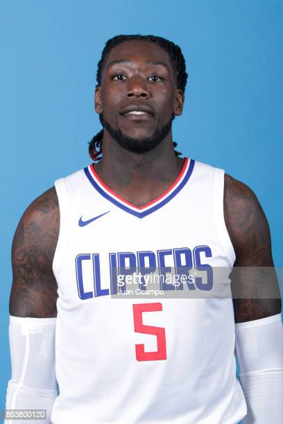 Montrezl Harrell of the Los Angeles Clippers poses for a portrait during 2017 Media Day on September 25 2017 at the Los Angeles Clippers Practice...