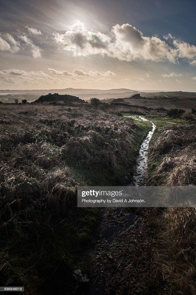 Monts D'Arree footpath. : Stock Photo