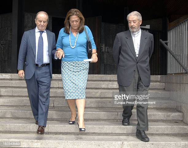 Montse Fraile and Jose Maria Garcia attend the christening of Carla Goyanes and Jorge Benguria on September 18 2012 in Madrid Spain