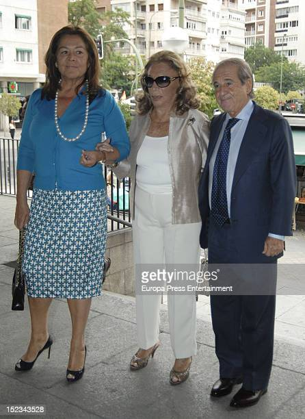 Montse Fraile the viscountess of Villamiranda and Jose Maria Garcia attend the christening of Carla Goyanes and Jorge Benguria on September 18 2012...