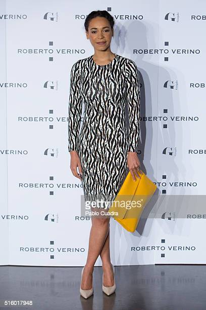 Montse Pla attends a cocktail reception hosted by the designer Roberto Verino to present his new collection at 'Platea' on March 16 2016 in Madrid...
