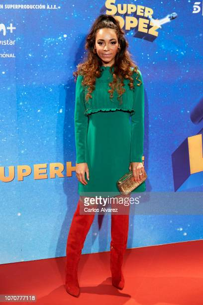 Montse Pla attends 'Superlopez' premiere at the Capitol cinema on November 21 2018 in Madrid Spain