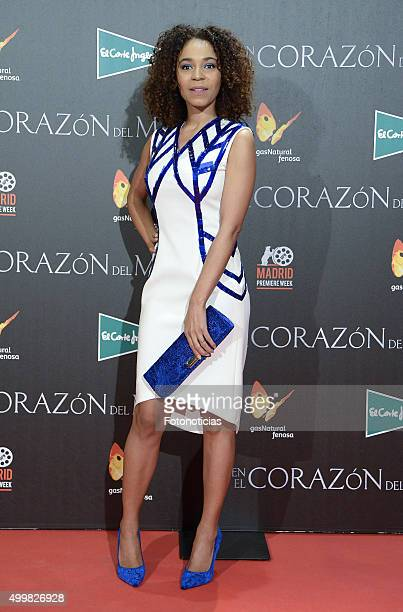 Montse Pla attends the 'In The Heart Of The Sea' Premiere at Callao Cinema on December 3 2015 in Madrid Spain