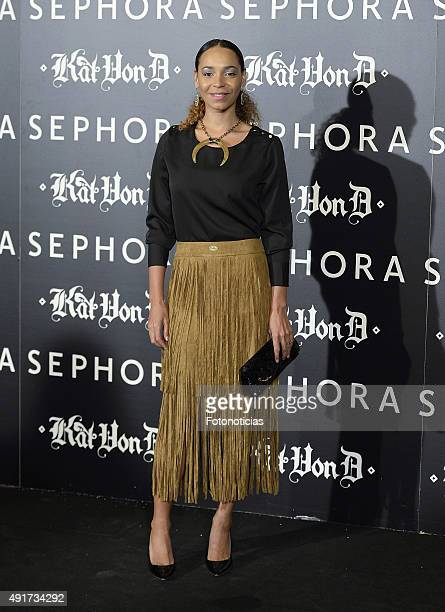 Montse Pla attends the launch of the 'Kat Von D Beauty' make up collection at Callao Cinema on October 7 2015 in Madrid Spain