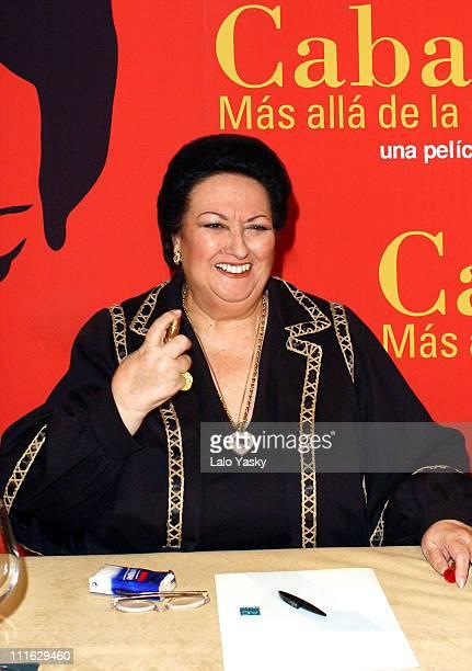 Montserrat Caballe during Spanish Soprano Montserrat Caballe Promotes 'Caballe Mas Alla de la Musica' Madrid at Santo Mauro Hotel in Madrid Spain