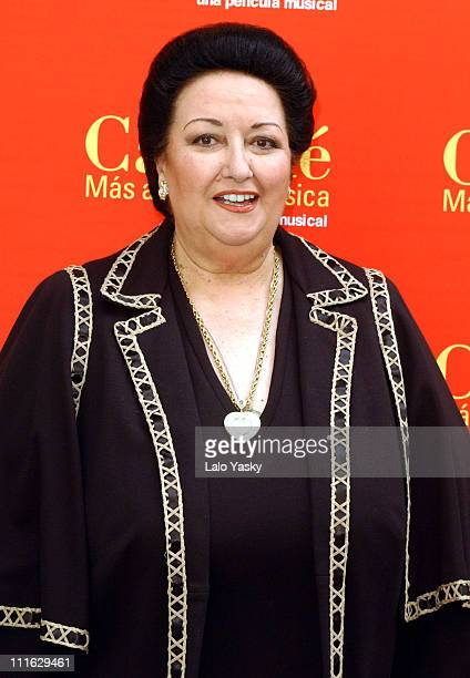 Montserrat Caballe during Spanish Soprano Montserrat Caballe Promotes Caballe Mas Alla de la Musica Madrid at Santo Mauro Hotel in Madrid Spain