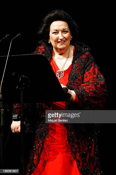 Montserrat Caballe performs in concert commemorating the 50th anniversary of the debut of Montserrat Caballe at Gran Teatre del Liceu on January 3,...
