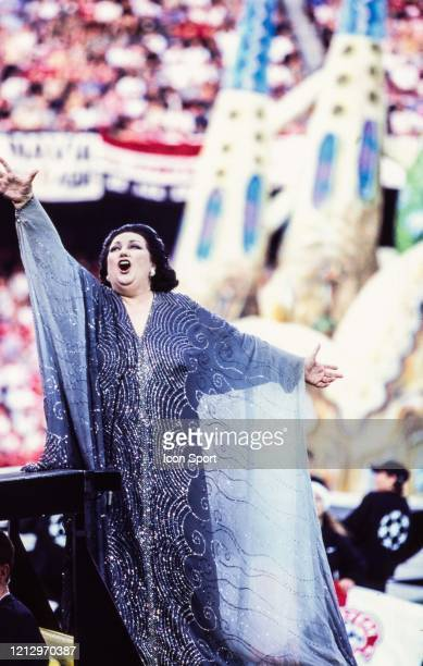Montserrat CABALLE singer during the Champions League Final match between Manchester United and Bayern Munich at Camp Nou Barcelona Spain on 26th May...