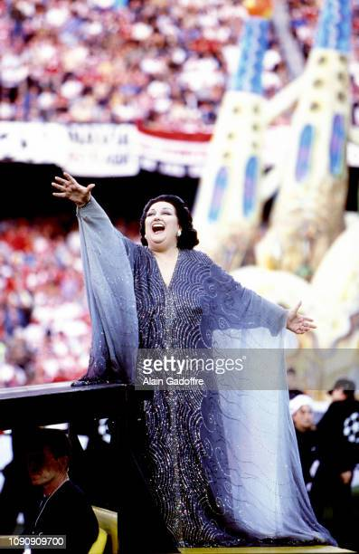 Montserrat Caballe singer during the UEFA Champions league final match between Manchester United and Bayern Munich on May 26 1999 in Camp Nou...