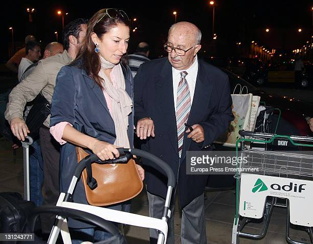 Montserrat Caballe's husband Bernabe Marti and his daughter Montserrat Marti are seen on November 2 2011 in Barcelona Spain