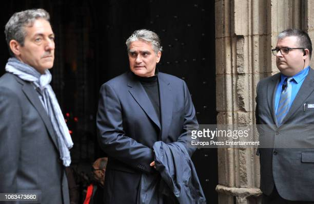 Montserrat Caballe's son Bernabe Marti jr attends the funeral for the soprano Montserrat Caballe who died aged 85 at Barcelona Cathedral on November...