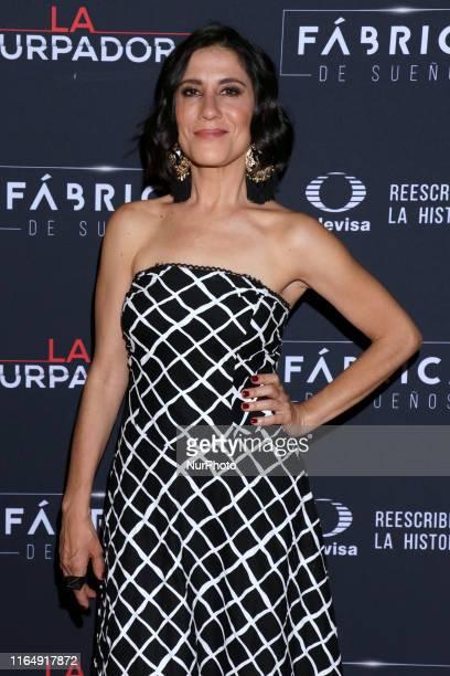 Montserrat Maranon poses for photos during a red carpet of premiere 'La Usurpadora' Tv Screening soap opera at Club de Banqueros on August 29 2019 in...