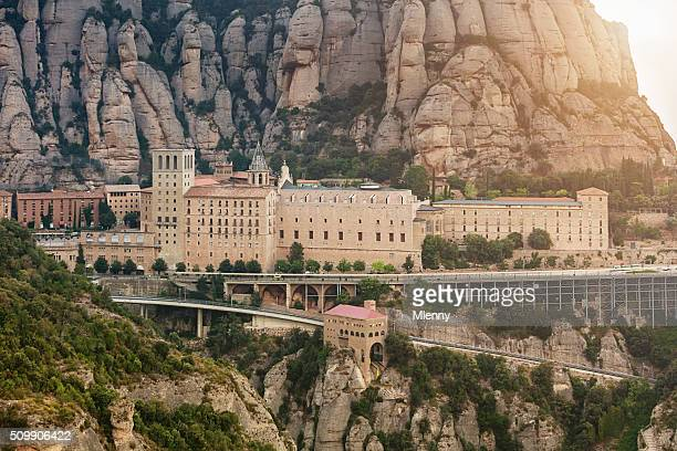 montserrat monastery barcelona catalonia spain - basilica stock pictures, royalty-free photos & images