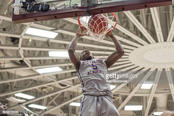 Montverde Academy Eagles guard RJ Barrett dunks during the second half of the Spalding Hoophall Classic high school basketball game between the...