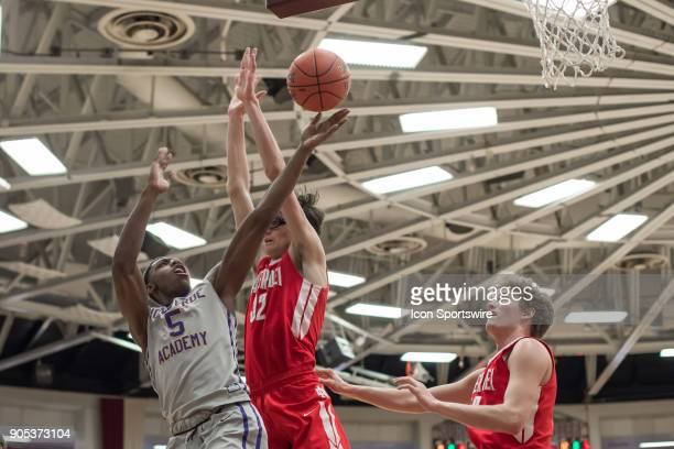 Montverde Academy Eagles guard RJ Barrett scores a basket during the second half of the Spalding Hoophall Classic high school basketball game between...