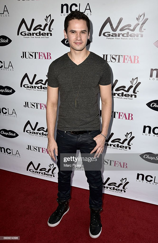 Monty Geer arrives at the 10 Year Anniversary with Beauty for a Cause Summer Toy Drive at Nail Garden on July 26, 2016 in Studio City, California.