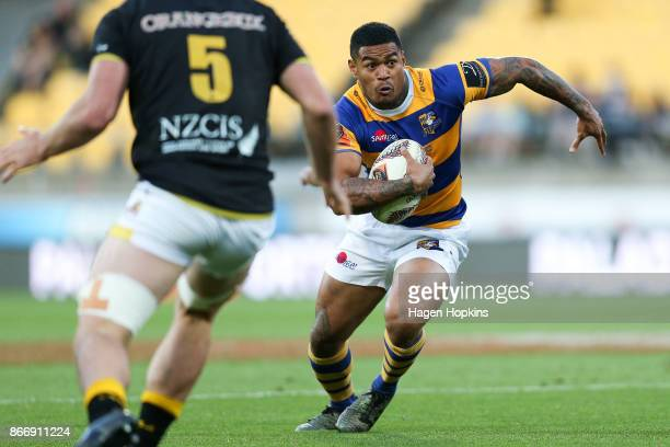 Monty Ioane of Bay of Plenty in action during the Mitre 10 Cup Championship Final match between Wellington and Bay of Plenty at Westpac Stadium on...