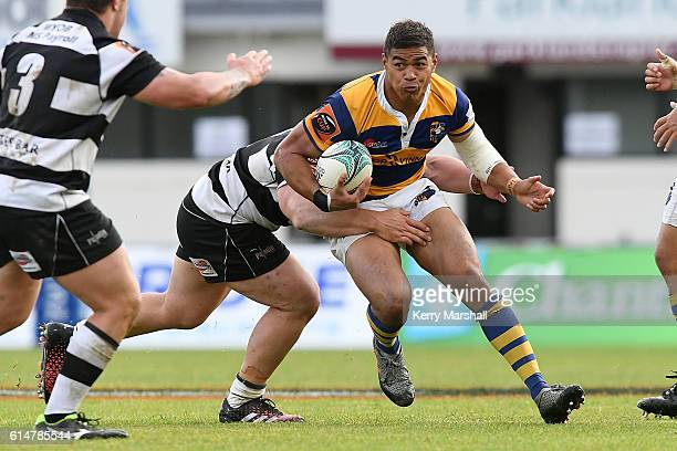 Monty Ioane of Bay of Plenty in action during the round nine Mitre 10 Cup match between Hawke's Bay and Bay of Plenty on October 15 2016 in Napier...