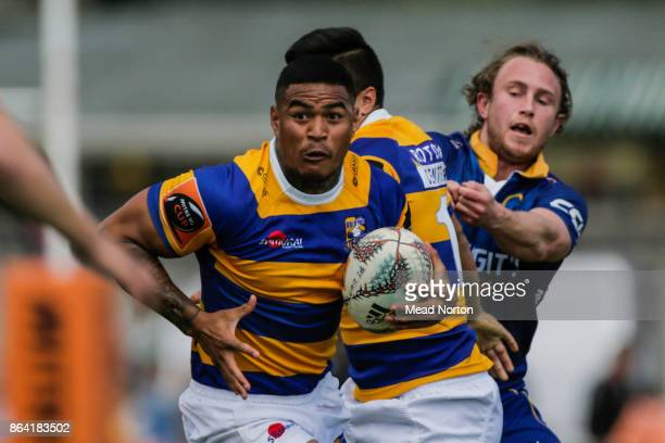 Monty Ioane of Steamers during the Mitre 10 Cup Semi Final match between Bay of Plenty and Otago on October 21 2017 in Tauranga New Zealand
